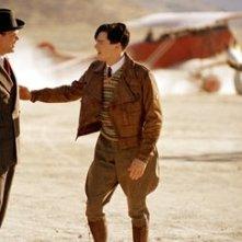 Leonardo DiCaprio e John C. Reilly in una scena di The Aviator