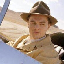 Leonardo DiCaprio in una scena di The Aviator