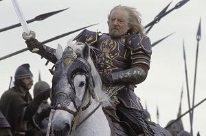 Bernard Hill in una immagine di Il signore degli anelli - Il ritorno del re