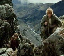 Elijah Wood e Sean Astin in una immagine di Il signore degli anelli - Le due torri