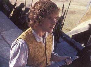 Dominic Monaghan in una sequenza di Il signore degli anelli - Il ritorno del re
