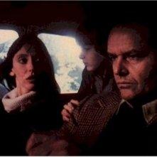 Jack Nicholson, Danny Lloyd e Shelley Duvall in una scena di Shining