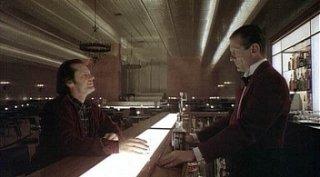 Jack Nicholson e Joe Turkel in una sequenza di Shining