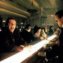 Jack Nicholson e Joe Turkel in una scena di Shining