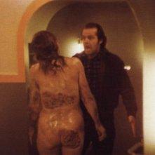 Jack Nicholson in una scena di Shining di Stanley Kubrick