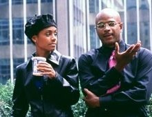 Jada Pinkett-Smith e Damon Wayans in una scena di Bamboozled
