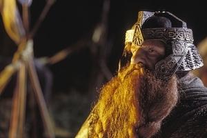 John Rhys-Davies in una scena di Il signore degli anelli - Il ritorno del re