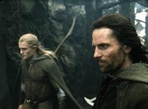 Orlando Bloom e Viggo Mortensen in una scena di Il signore degli anelli - Il ritorno del re