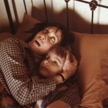 Shelley Duvall e Danny Lloyd in una scena di Shining