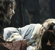 Viggo Mortensen e Miranda Otto in una scena di Il signore degli anelli - Il ritorno del re