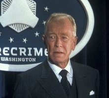 Max von Sydow in una scena di Minority Report