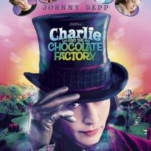 Johnny Depp nel manifesto di Charlie e la fabbrica di cioccolato