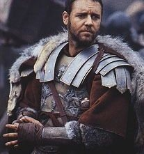 Russell Crowe in una sequenza di Il Gladiatore