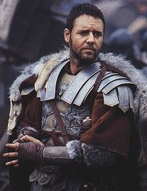 Russell Crowe in una sequenza di Il Gladiatore