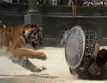 Una scena di Il Gladiatore, del 2000
