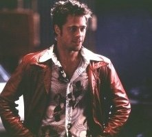 Brad Pitt in una scena di Fight club