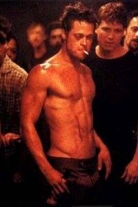 Brad Pitt in una scena di Fight club
