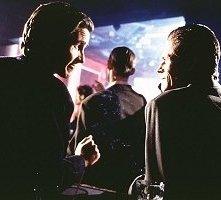 Christian Bale e Willem Dafoe in una scena di American Psycho