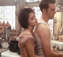Edward Norton e Helena Bonham Carter in una scena di Fight club