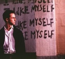 Edward Norton in una scena di Fight club