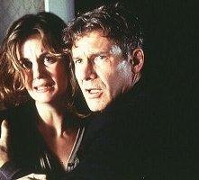 Margaret Colin e Harrison Ford in una scena di L'Ombra del diavolo