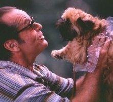 Jack Nicholson in una scena del film Qualcosa è cambiato