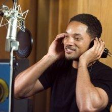 Will Smith in sala doppiaggio per Shark Tale