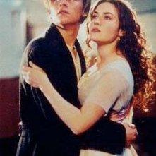 Kate Winslet e Leonardo DiCaprio in una scena del film Titanic