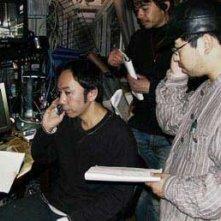 Takashi Shimizu sul set del film Marebito