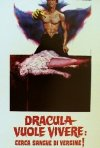 La locandina di Dracula cerca sangue di vergine e... morì di sete!