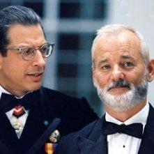 Bill Murray e Jeff Goldblum in una scena di Le avventure acquatiche di Steve Zissou