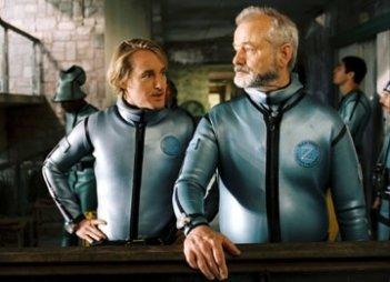 Bill Murray e Owen Wilson in una scena di Le avventure acquatiche di Steve Zissou