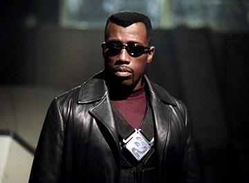 Wesley Snipes in una scena di Blade: Trinity