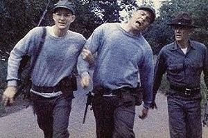 Matthew Modine, Vincent D'Onofrio e R. Lee Ermey in una scena di Full Metal Jacket