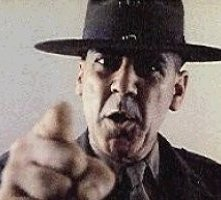 R. Lee Ermey in una scena di Full Metal Jacket