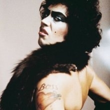 Una foto promo di Tim Curry per The Rocky Horror Picture Show
