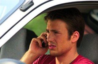 Chris Evans in una scena del thriller Cellular