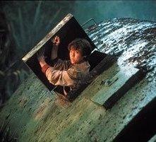 Trevor Morgan in una scena di Jurassic Park III