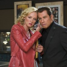 Uma Thurman e John Travolta in una scena del film Be Cool