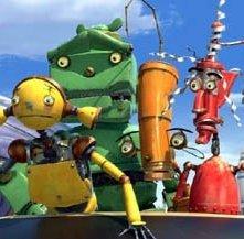 Una scena di Robots