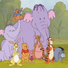 Una scena di Winnie The Pooh e gli Efelanti