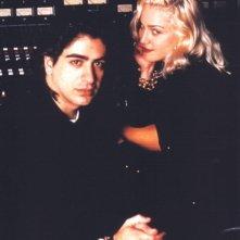 Madonna ed Alek Keshishian in sala montaggio per A letto con Madonna