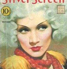 Marlene Dietrich sulla copertina di Silver Screen per la promozione di Venere bionda