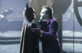 Michael Keaton e Jack Nicholson in Batman