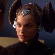 Natalie Portman nei panni di Amidala in Star Wars ep. II