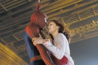 Tobey Maguire con Kirten Dunst nel primo Spider-man
