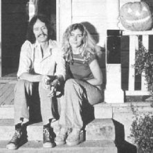 Debra Hill e John Carpenter sul set di Halloween