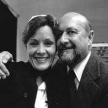 nancy stephens e donald pleasence sul set di Halloween - la notte delle streghe