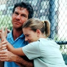 Scarlett Johansson e Dennis Quaid in una scena di In Good Company