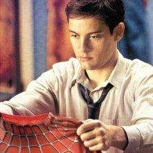 Tobey Maguire è Peter Parker - ovvero l'eroe mascherato Spider-Man